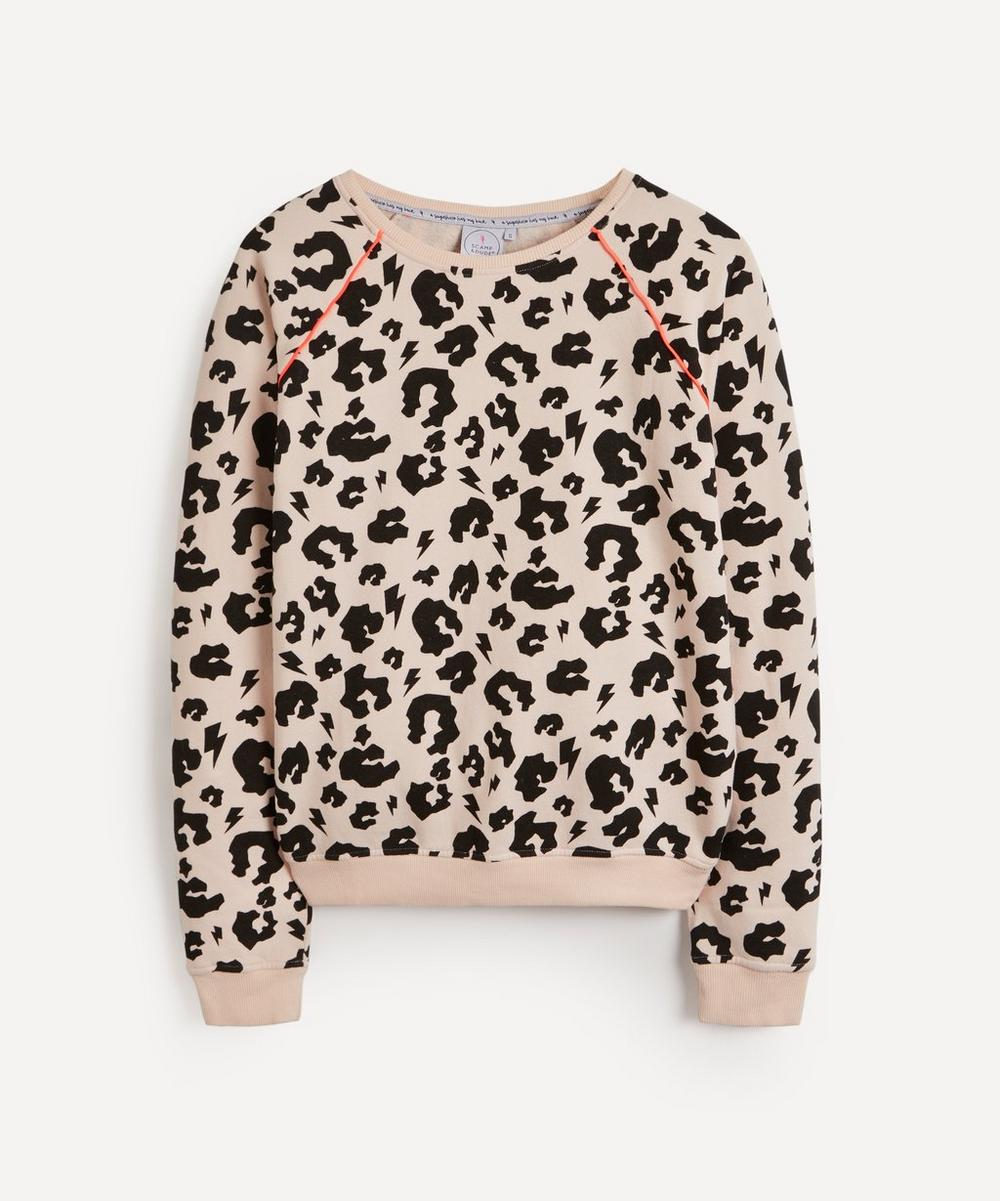 Scamp & Dude - Leopard and Lightning Print Super Soft Sweatshirt image number 0