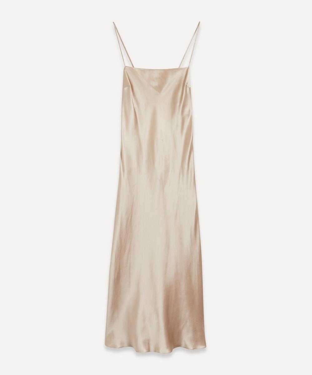 Le Kasha - Open-Back Silk Slip-Dress