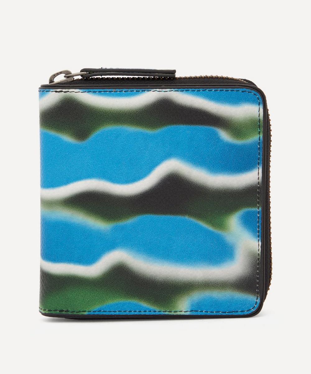 Dries Van Noten Beachsplash Zip Wallet In Multi