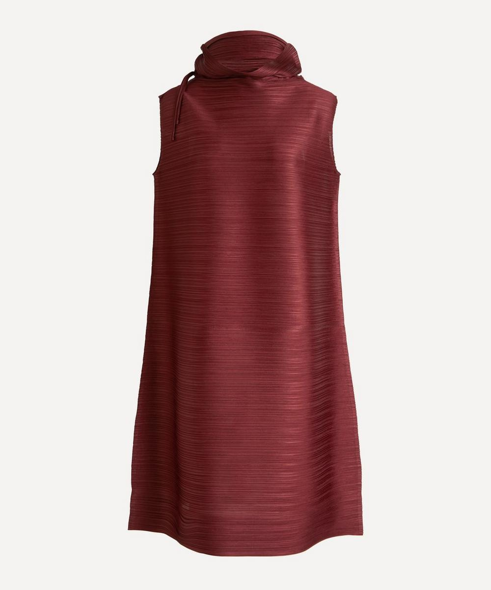 Pleats Please Issey Miyake - Cowl-Neck Sleeveless Dress