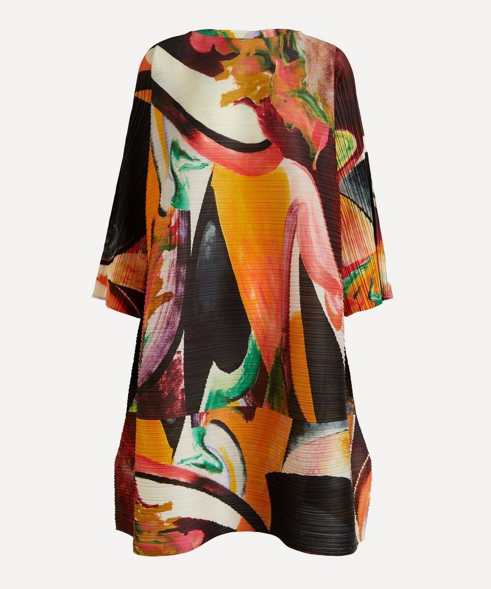 Pleats Please Issey Miyake - Musa Printed Boat-Neck Dress