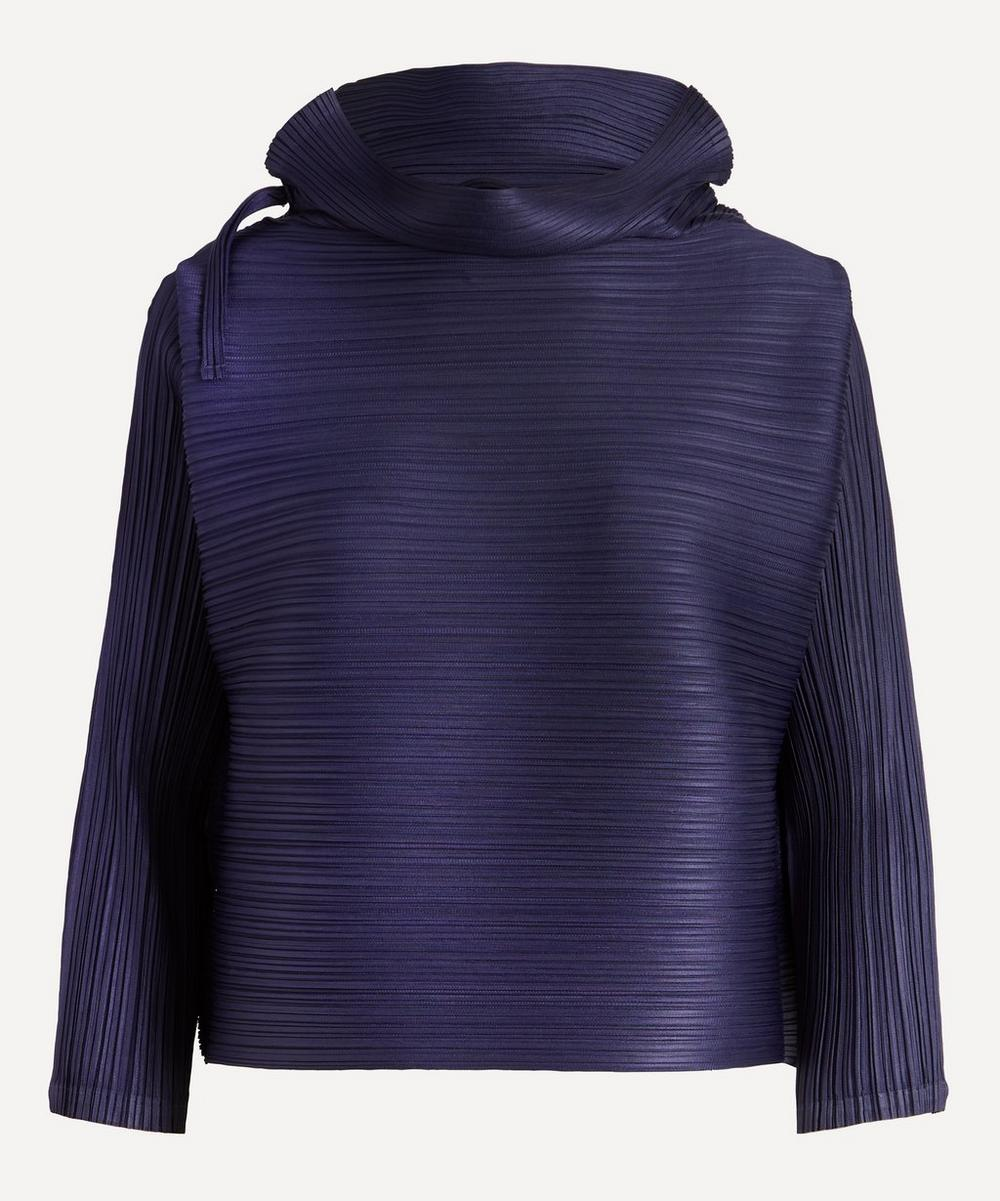 Pleats Please Issey Miyake - Cowl-Neck Long-Sleeve Top