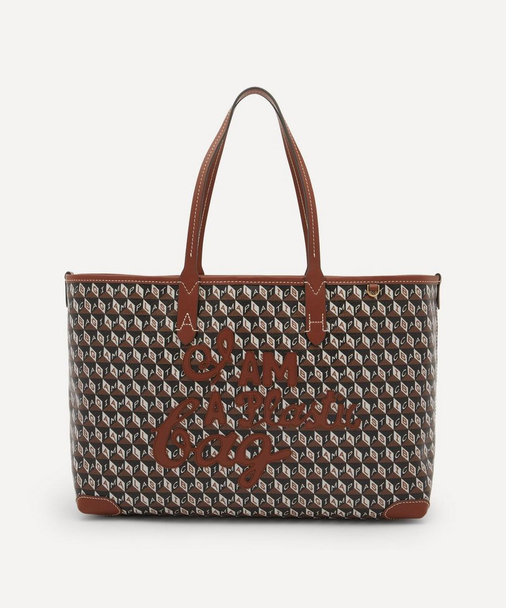 Anya Hindmarch - I Am A Plastic Bag Small Motif Recycled Coated Canvas Tote Bag