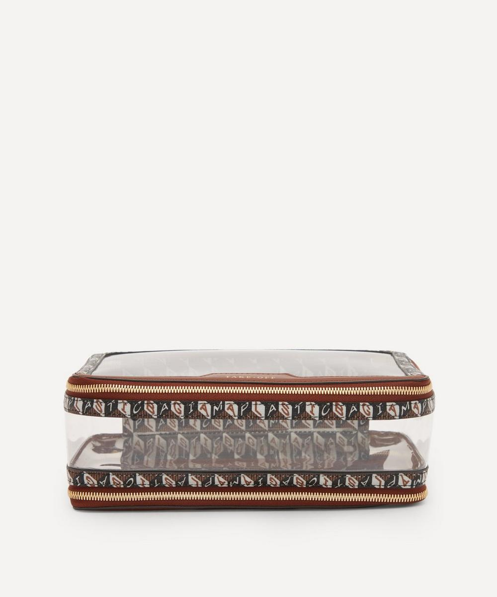 Anya Hindmarch - I Am A Plastic Bag In-Flight Clear Plastic and Recycled Coated Canvas Travel Case