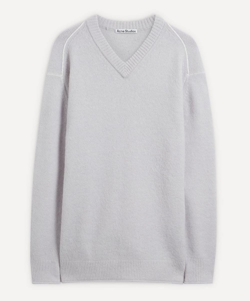 Acne Studios - Fluffy Alpaca-Blend V-Neck Sweater