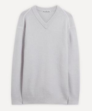 Fluffy Alpaca-Blend V-Neck Sweater