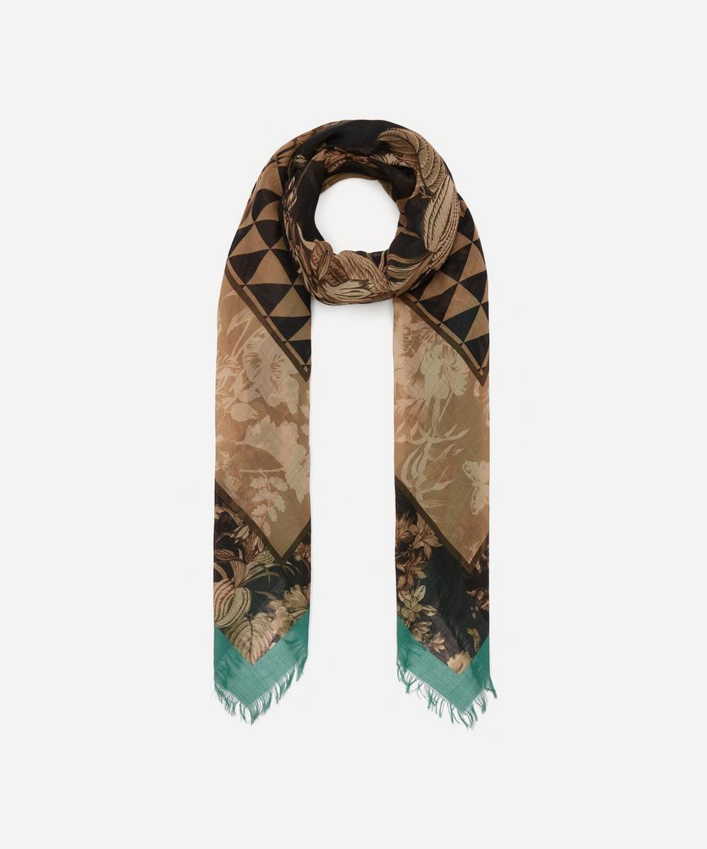 Etro - Floral Geometric Print Cashmere Scarf