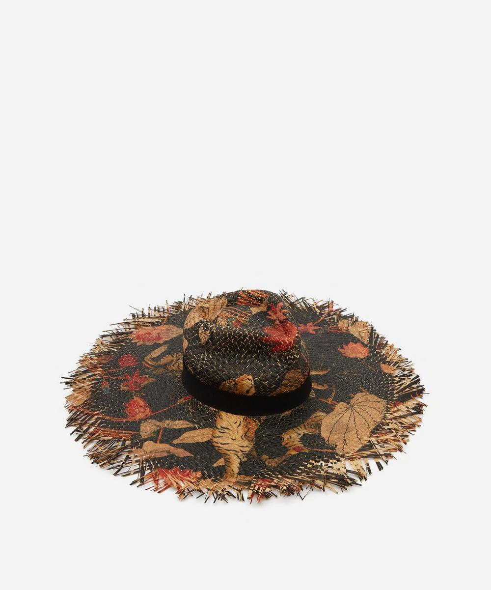 Etro - Painted Tiger Straw Hat