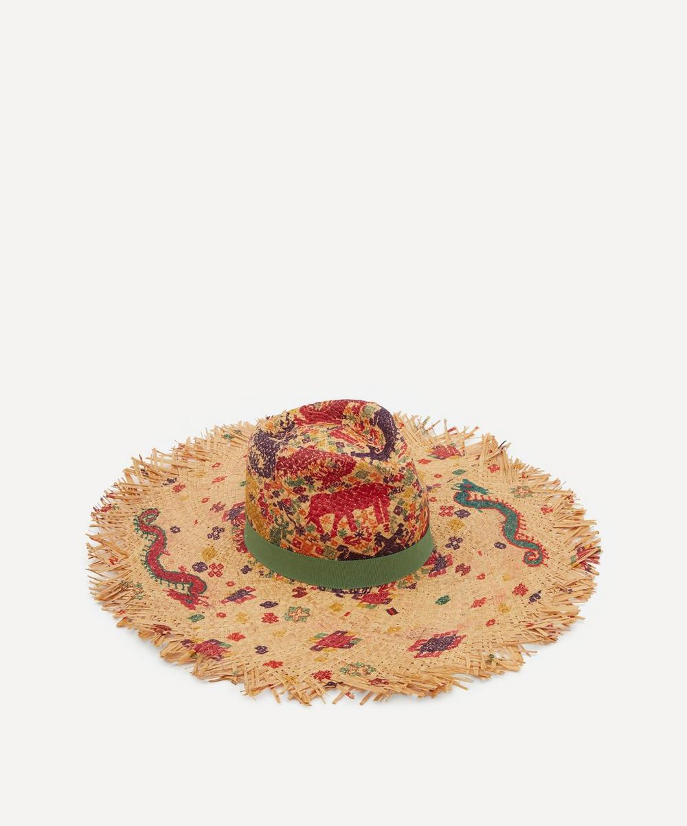 Etro - Painted Seahorse Straw Hat