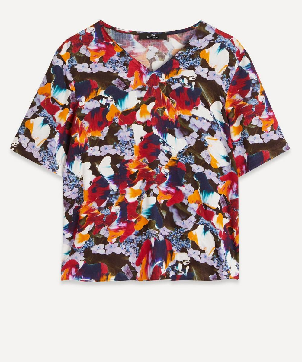 PS Paul Smith - Floral V-Neck T-Shirt