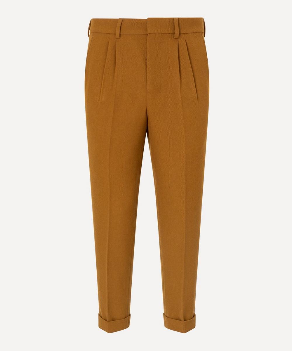 Ami - Wool Gabardine Pleated Trousers