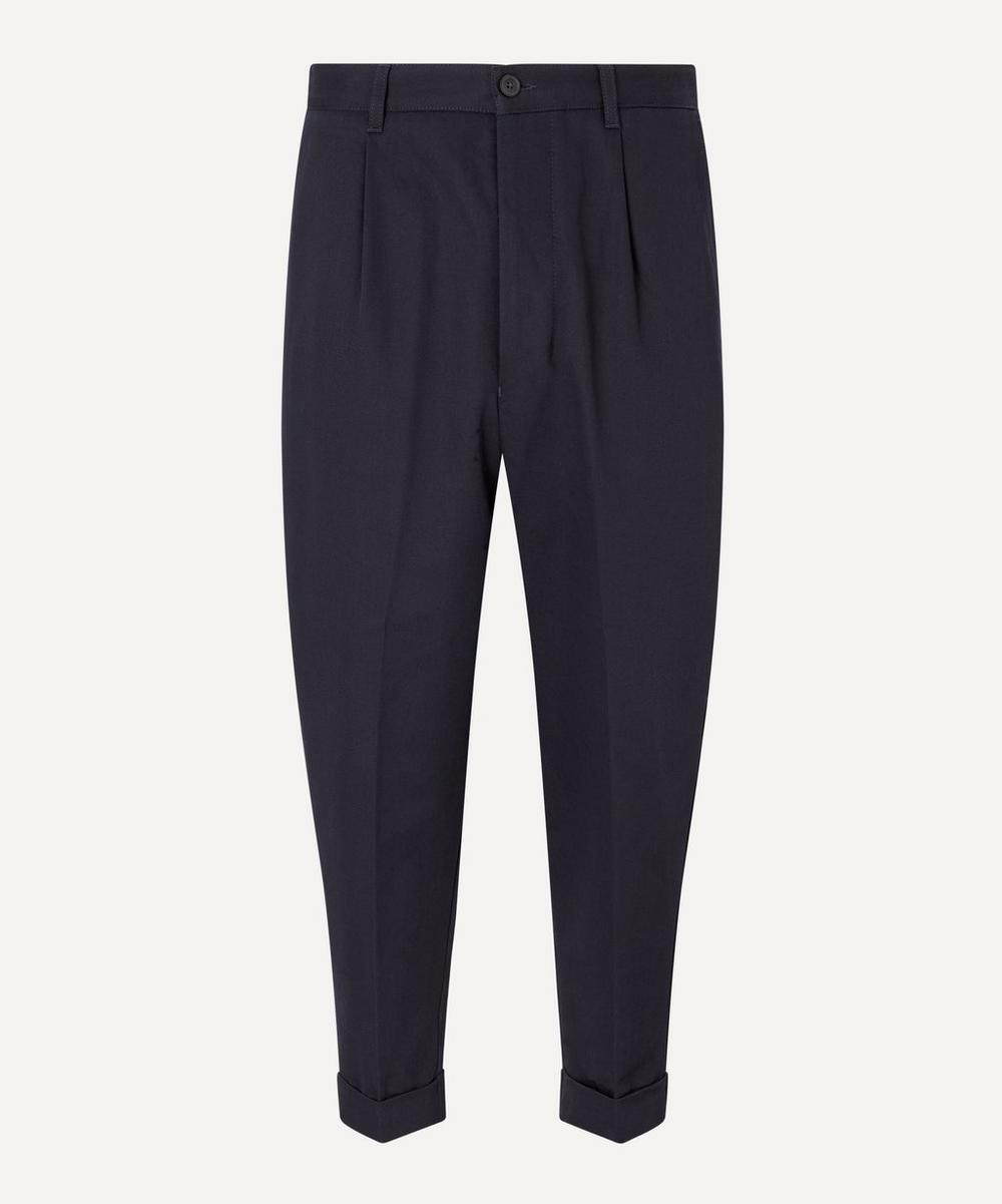 Ami - Cotton Oversized Pleated Trousers