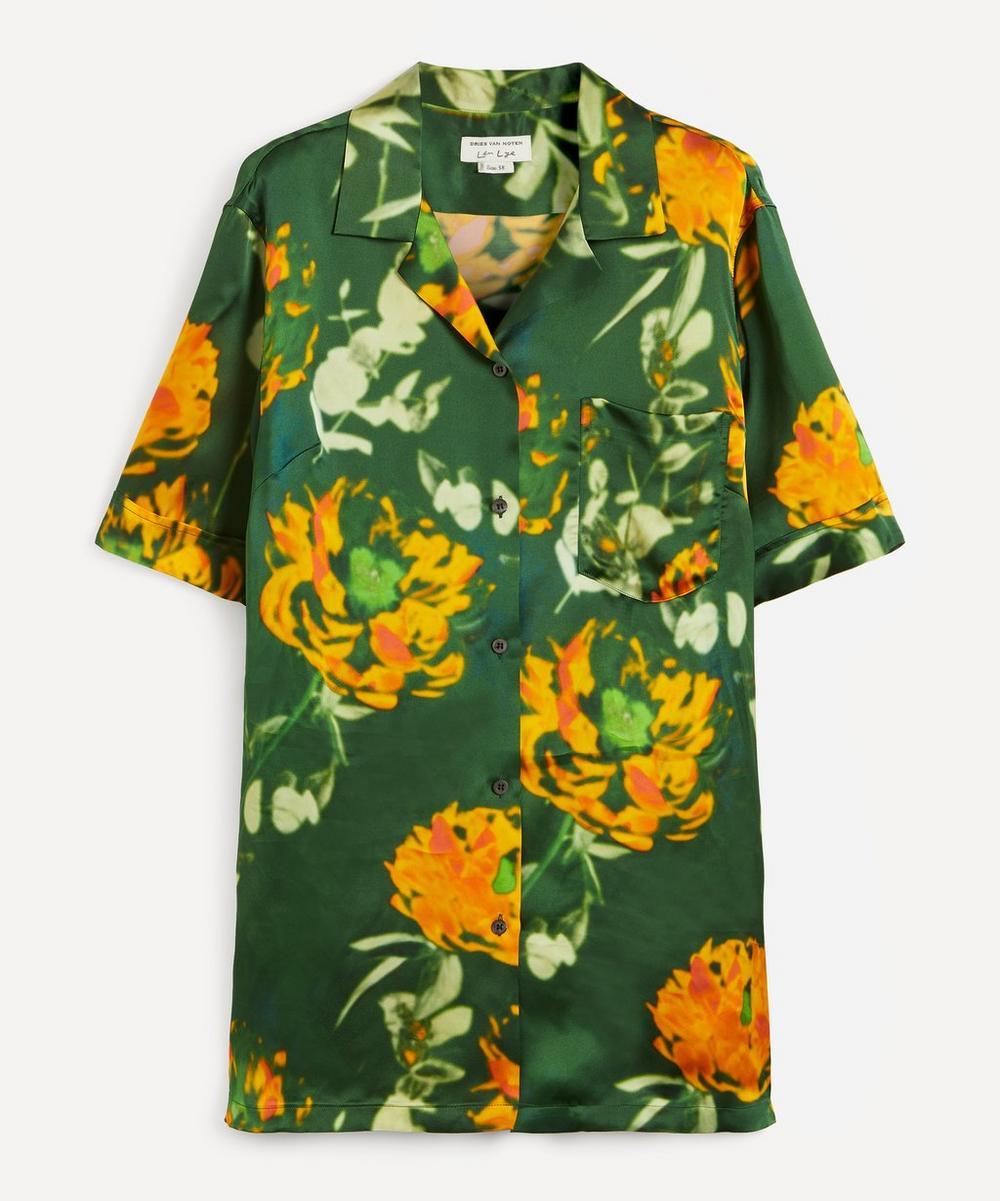 Dries Van Noten - Flower Print Satin Shirt
