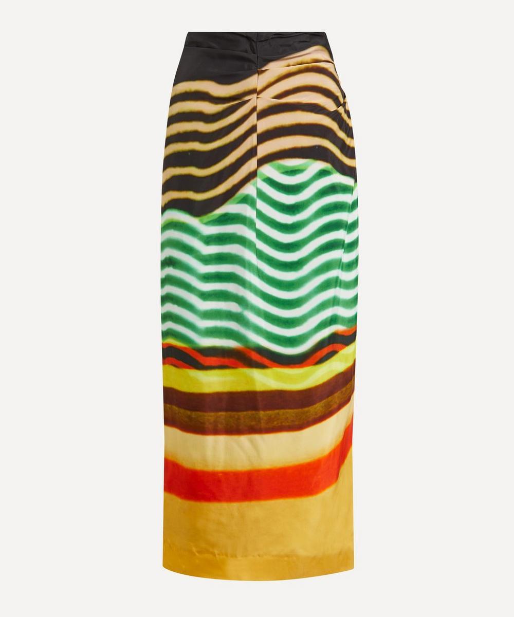 Dries Van Noten - Wave Print Maxi-Skirt