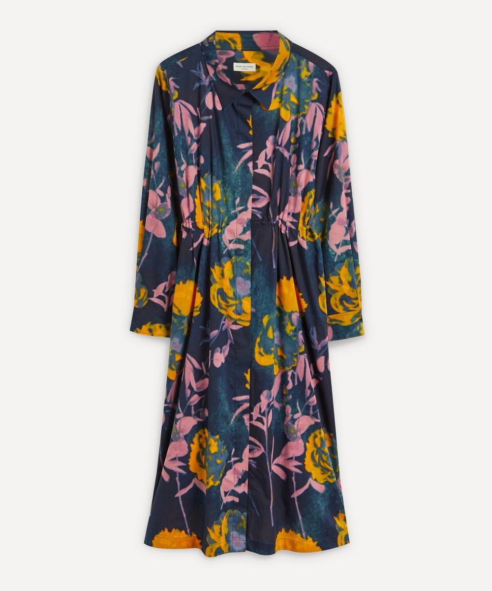 Dries Van Noten - Floral Print Big-Sleeve Dress