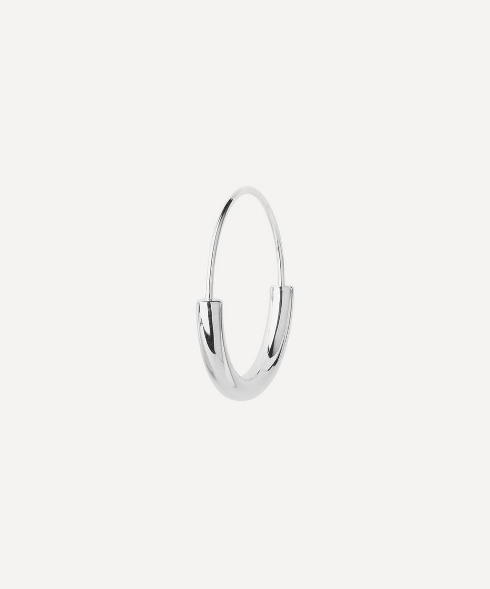Maria Black - White Rhodium-Plated Serendipity 22 Hoop Earring