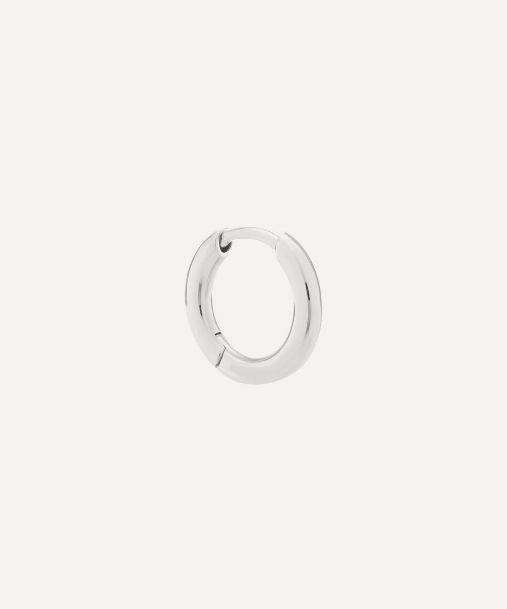 Maria Black - White Rhodium-Plated Marco Huggie Hoop Earring
