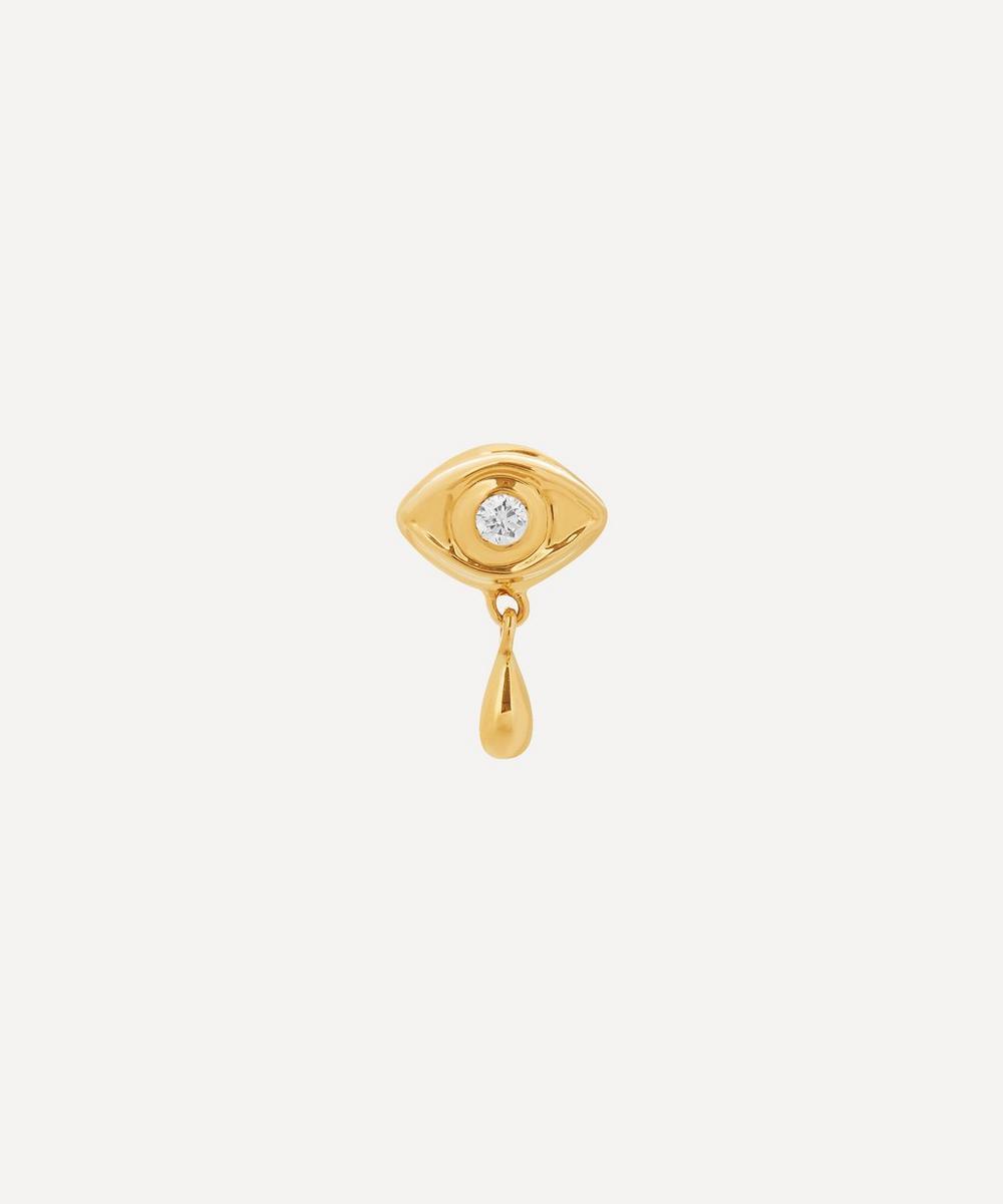 Maria Black - Gold Eye Diamond Stud Earring