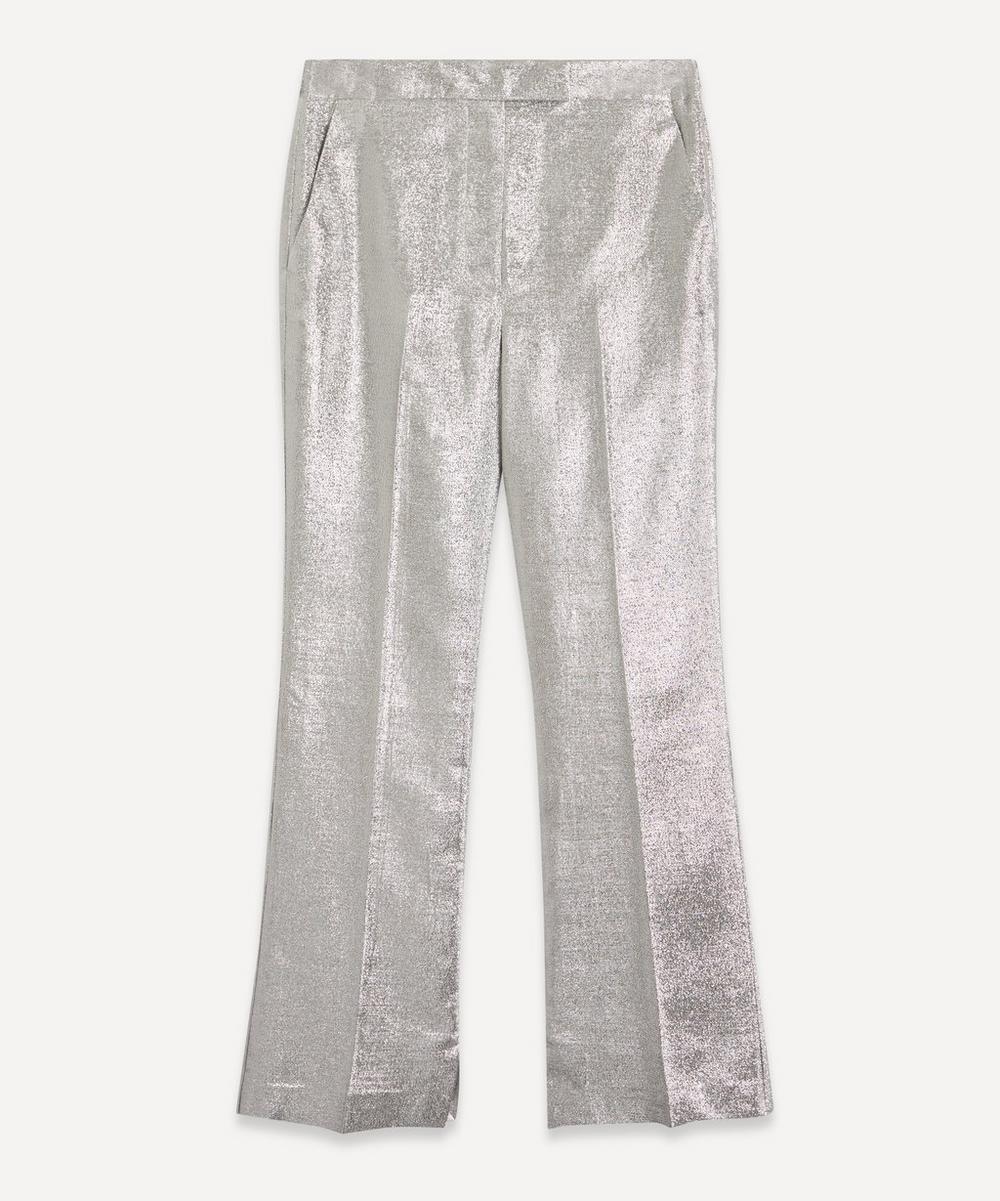 3.1 Phillip Lim - Metallic Lamé Flared Trousers