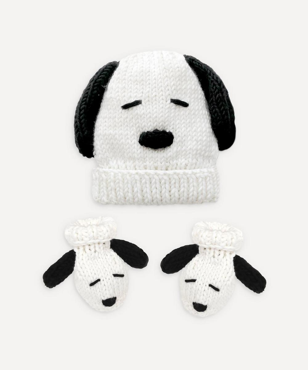 Stitch and Story - Peanuts: Snoopy Baby Hat and Booties Set Knitting Kit