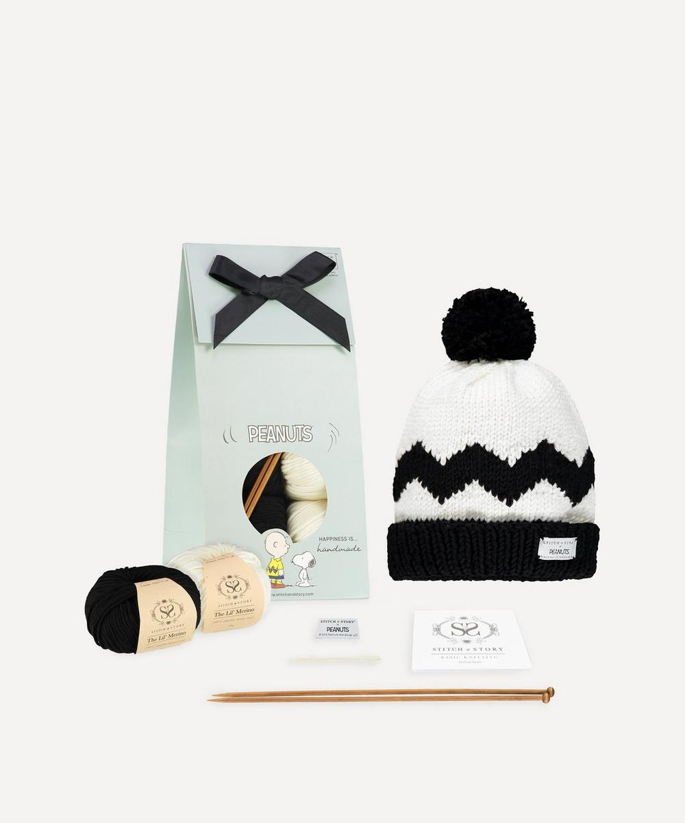 Stitch and Story - Peanuts: Charlie Brown Hat Knitting Kit