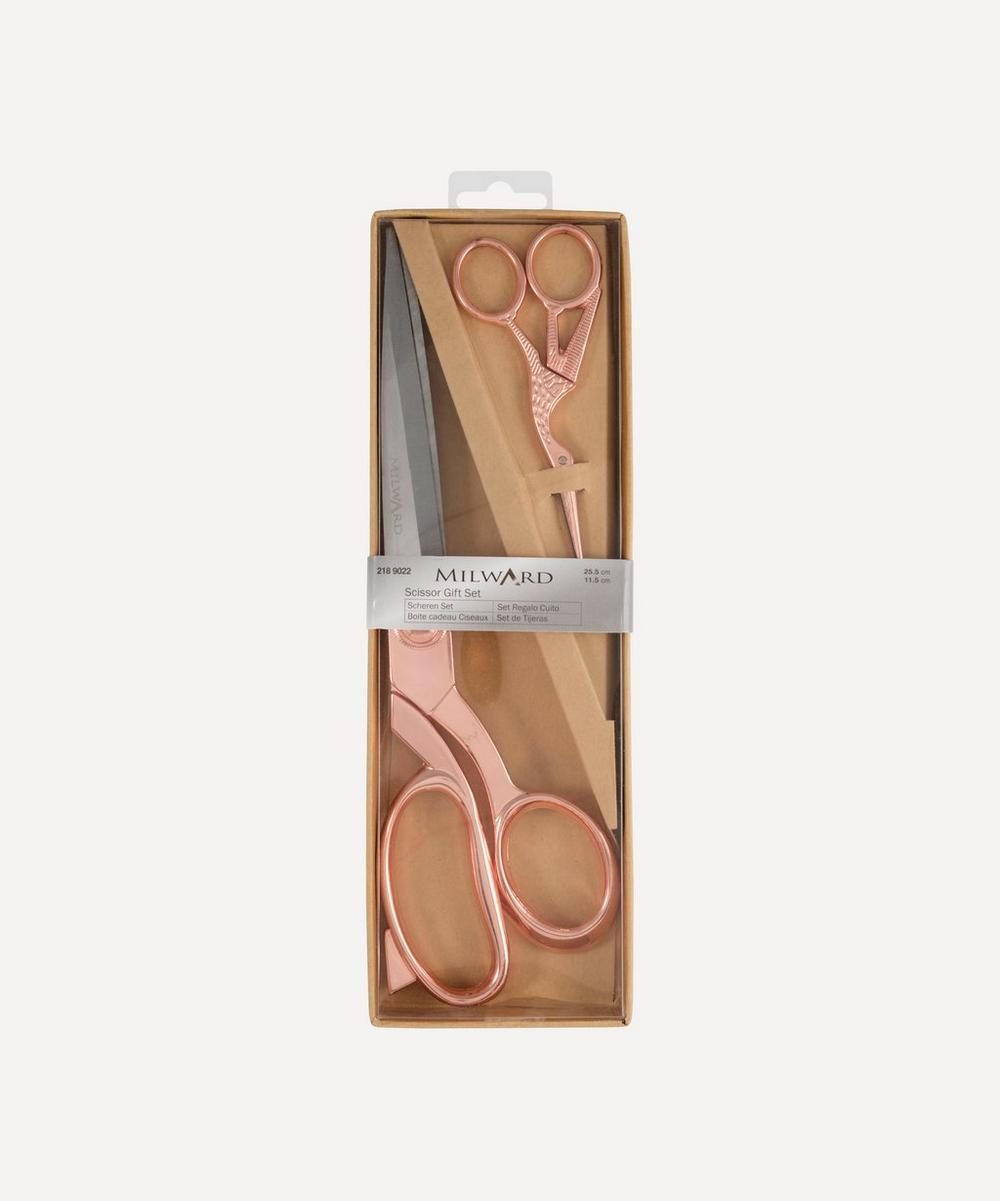 Groves - Milward Rose Gold Scissors Gift Set