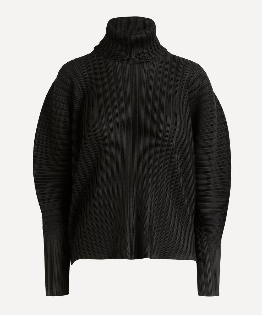 Pleats Please Issey Miyake - Rib Pleats Exaggerated Sleeve Top