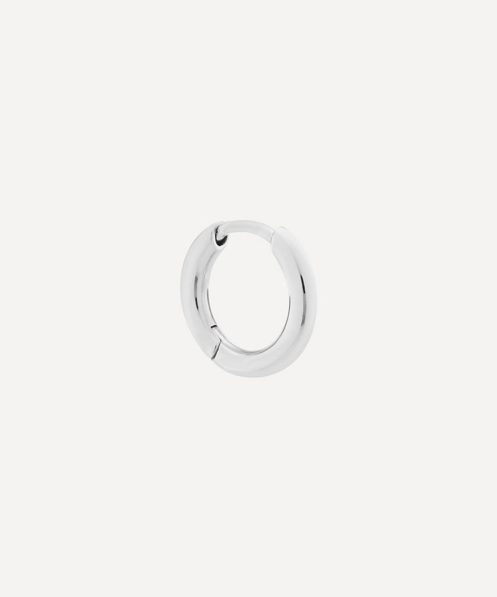 Maria Black - Rhodium-Plated Sterling Silver Marco Huggie Hoop Earring