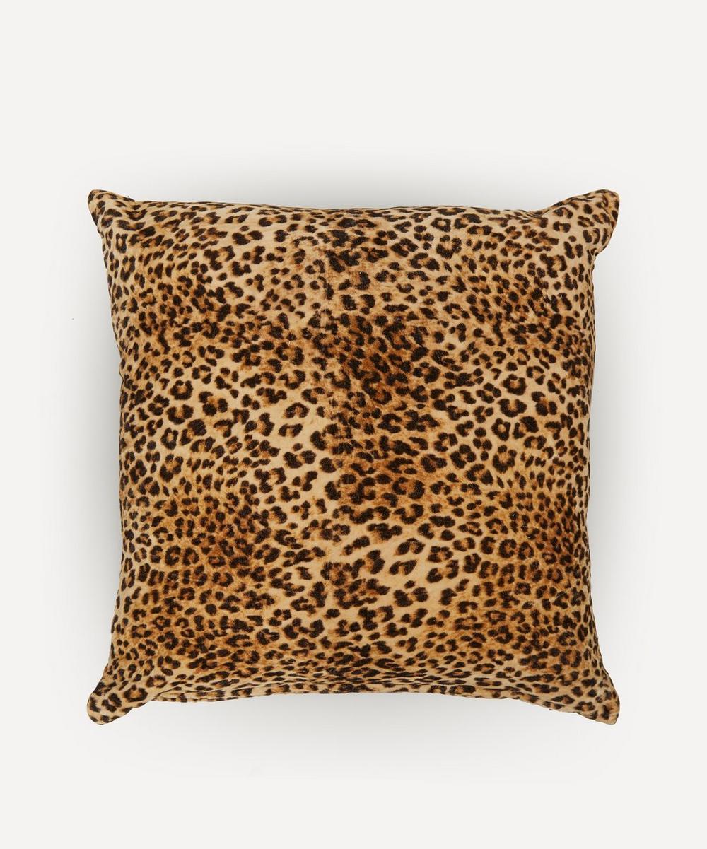 Rockett St George - Leopard Love Velvet Cushion