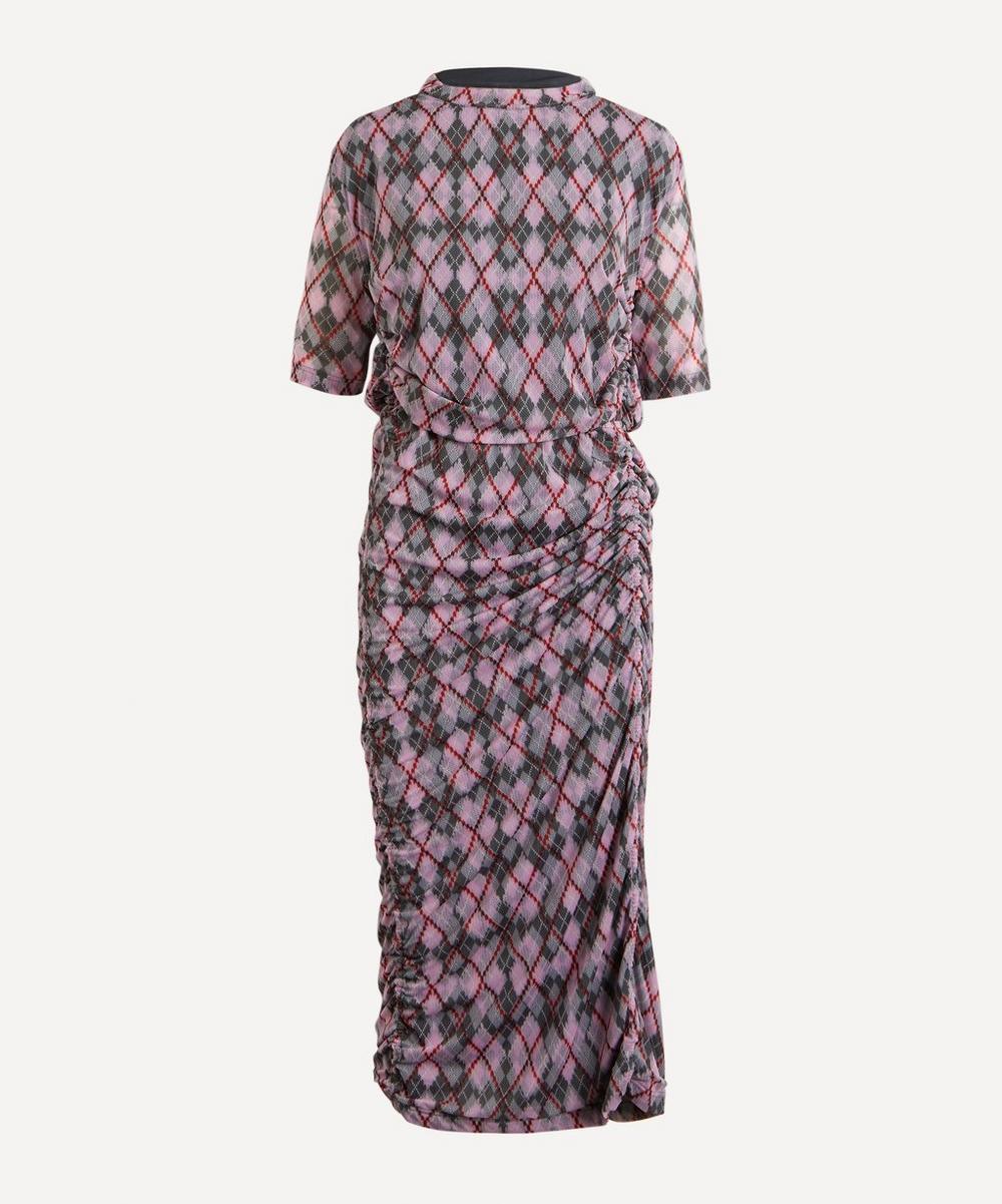 Y/PROJECT - Convertible Split Argyle Dress