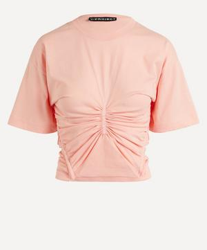 Ruched Corset Cotton T-Shirt