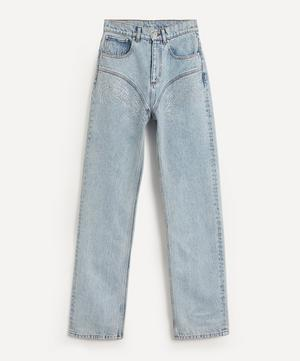 Crystal Rhinestone High-Waist Jeans
