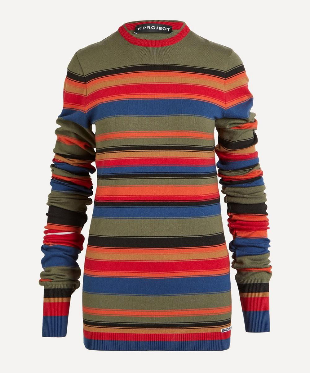 Y/PROJECT - Stripe Cotton-Mix Sweater