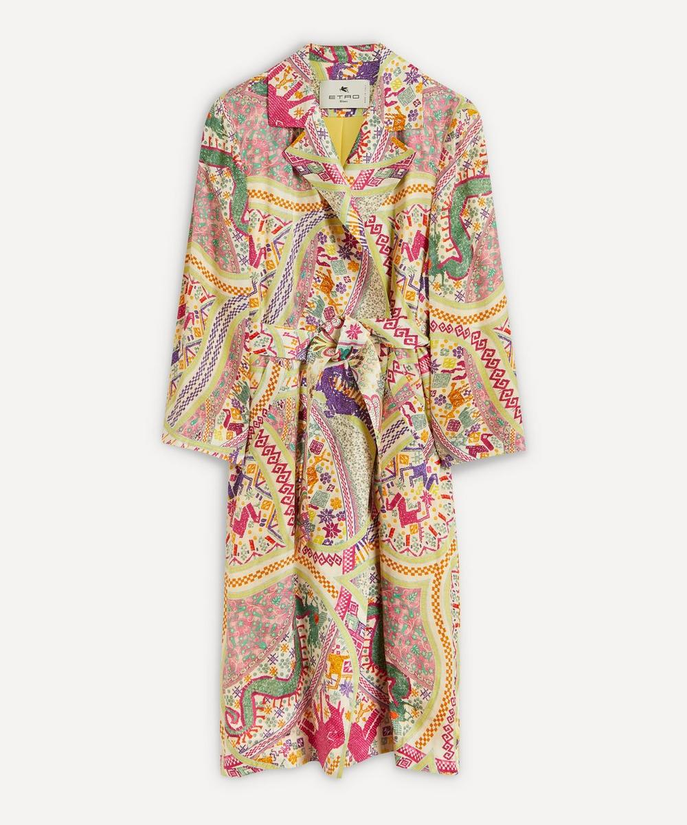 Etro - Printed Silk Coat