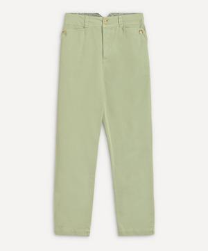 Straight-Leg Cotton Chino Trousers