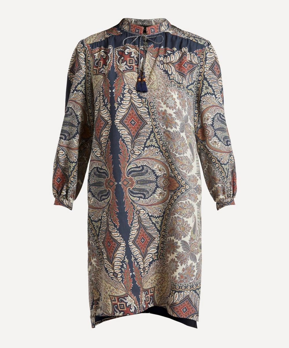 Etro - Paisley Wool-Silk Shift-Dress