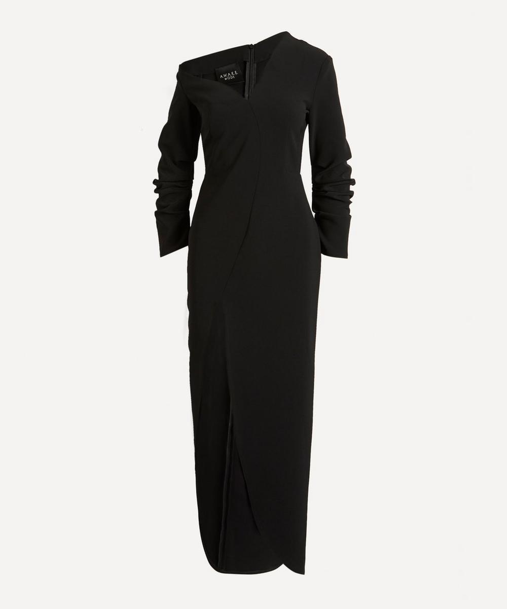 A.W.A.K.E. - Asymmetric Shoulder Fitted Dress
