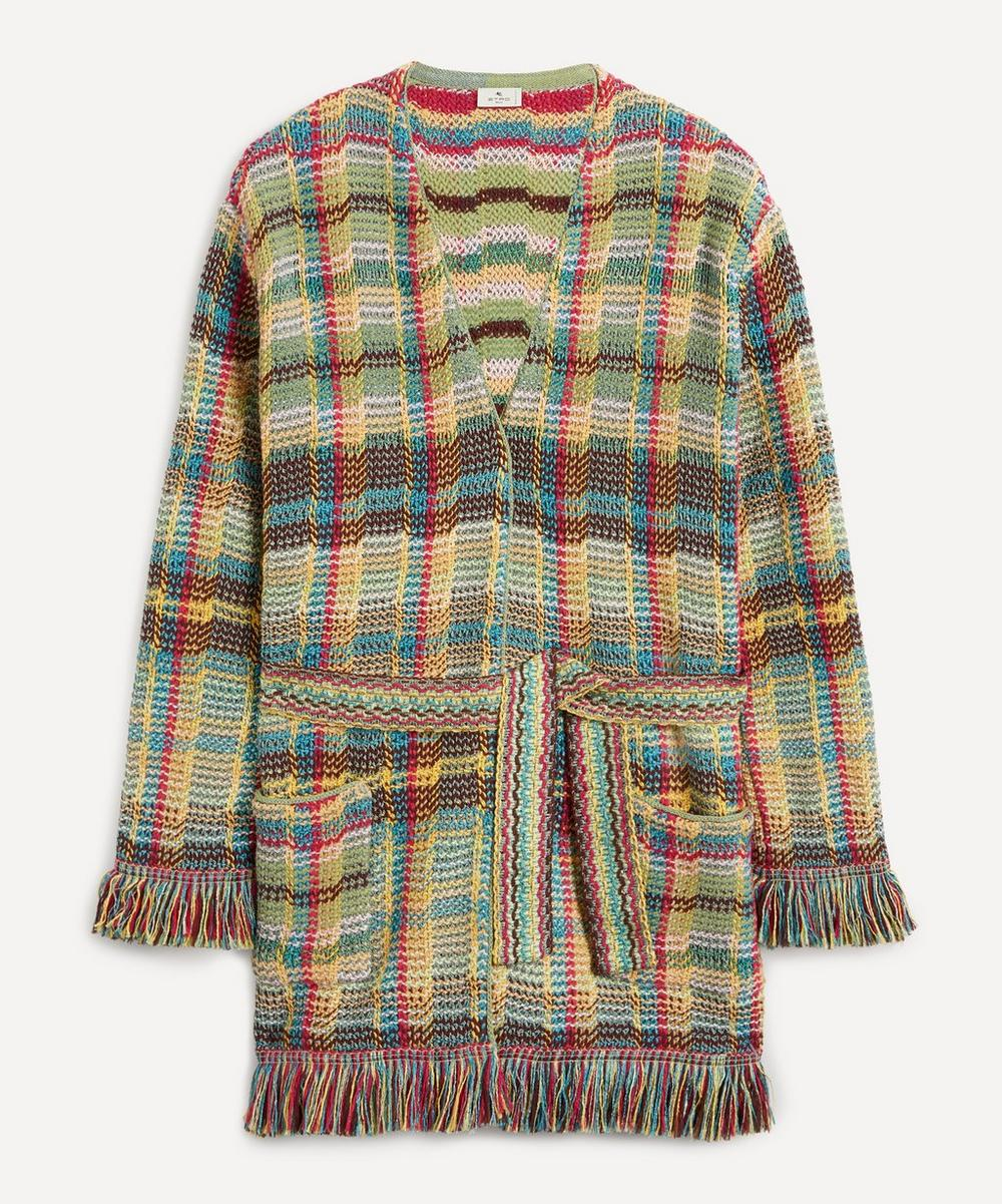Etro - Multi-Coloured Check Cardigan