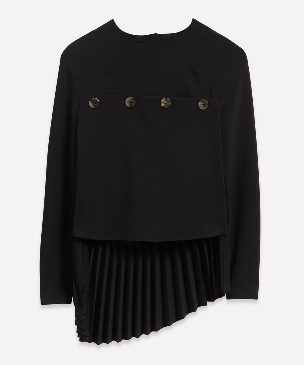 A.W.A.K.E. - Pleated Button Back Top