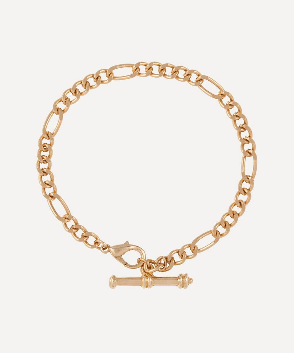 Susan Caplan Vintage - Gold-Plated 1990s Figaro Chain Bracelet