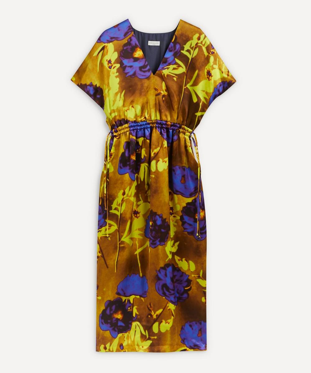 Dries Van Noten - Floral Silk-Satin Midi-Dress