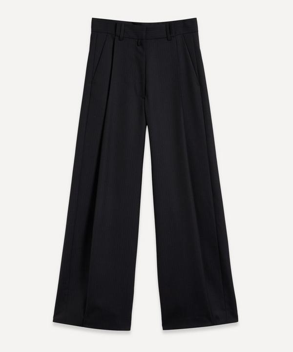Dries Van Noten - Wide-Leg Wool Pinstriped Trousers