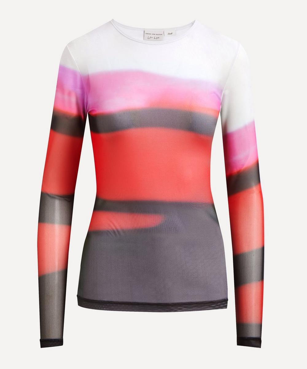 Dries Van Noten - Len Lye Stripe Mesh Top