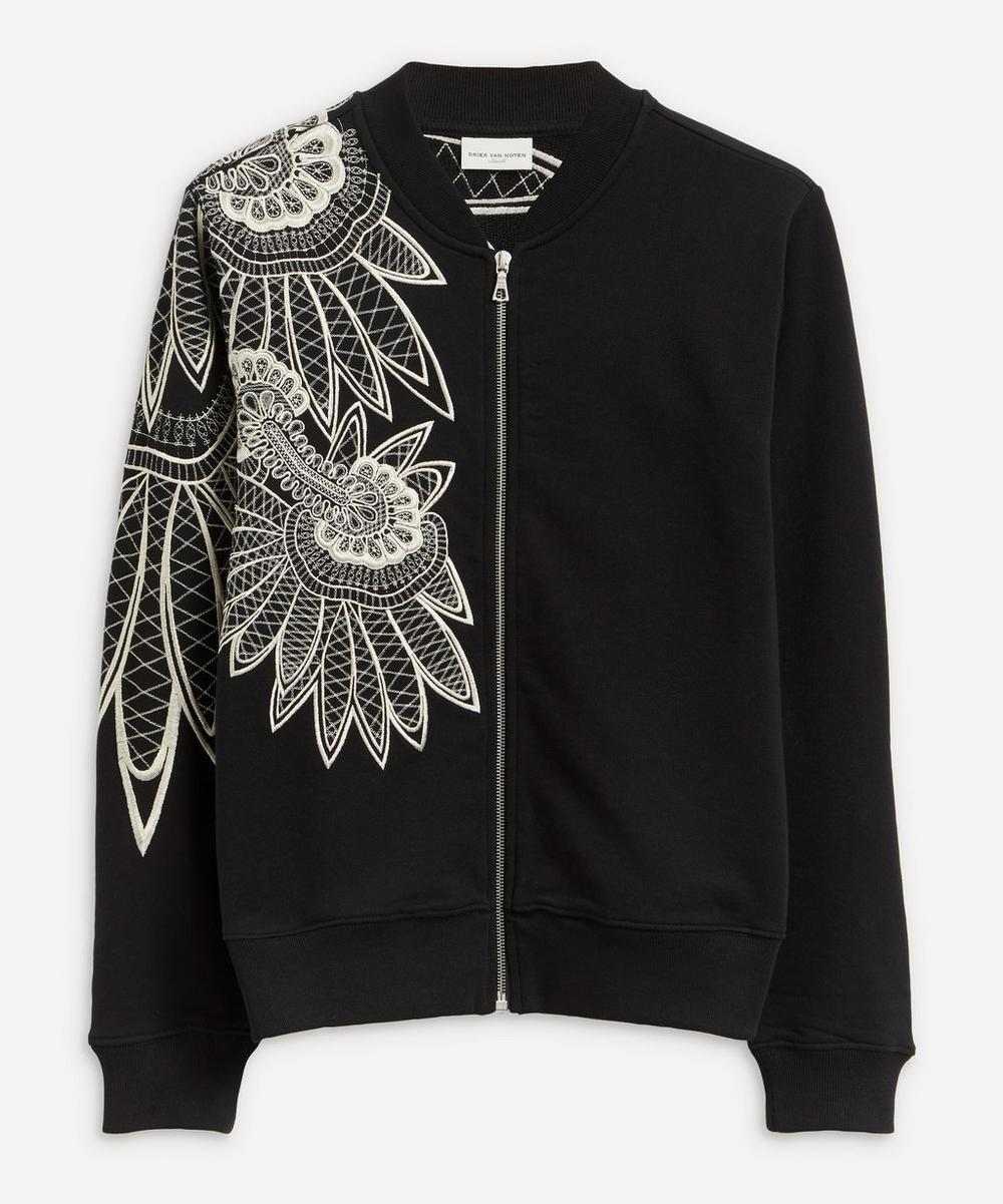 Dries Van Noten - Contrast Embroidered Bomber Jacket
