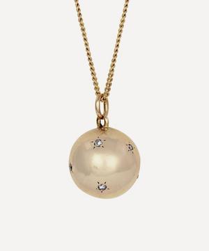 Gold Antique Diamond Sphere Pendant Necklace