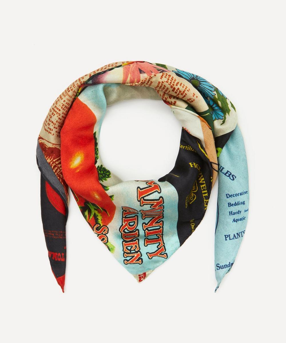 Holzweiler - Garden Patch Print Fine Silk Twill Scarf
