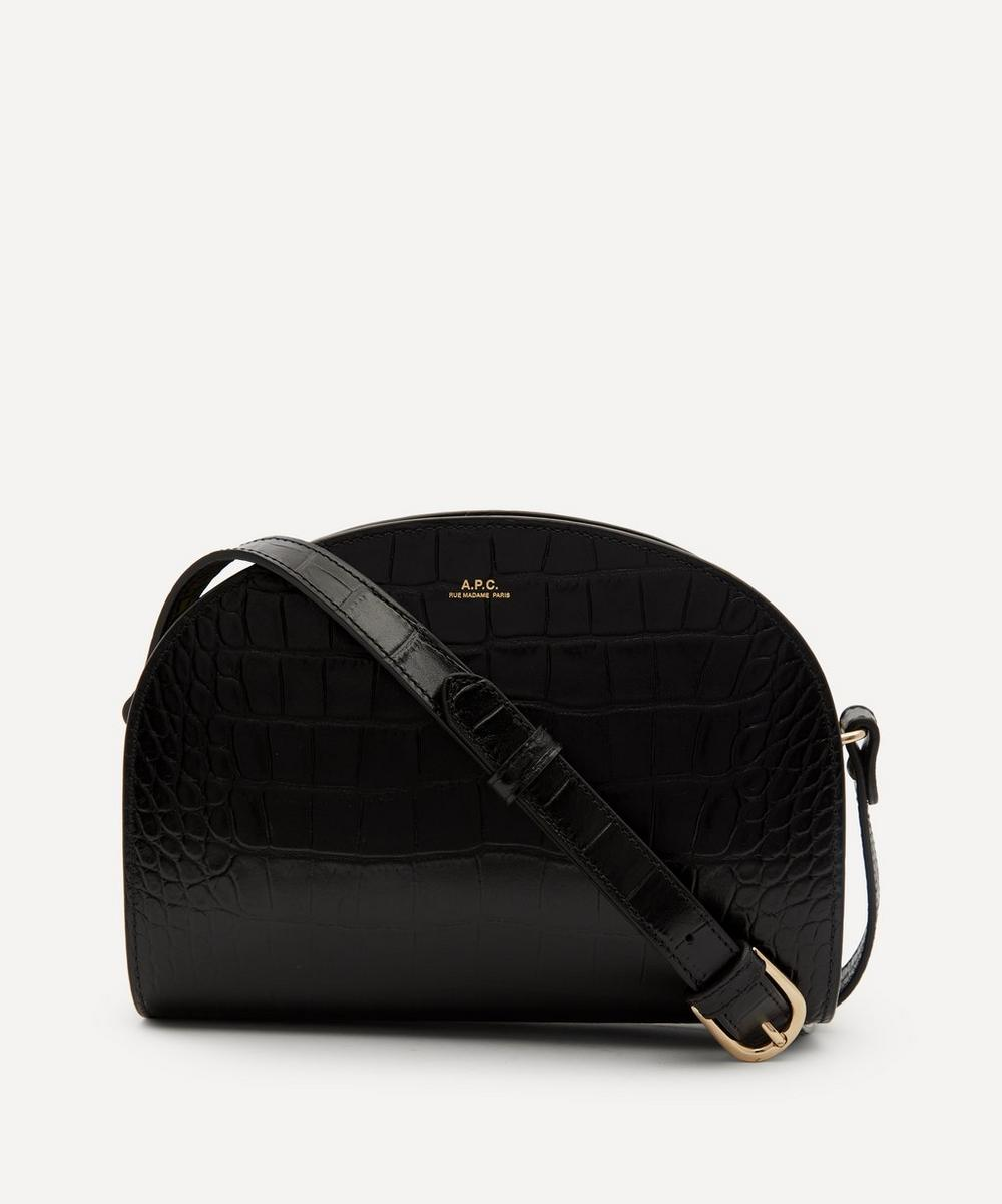 A.P.C. - Croc-Embossed Leather Demi-Lune Bag