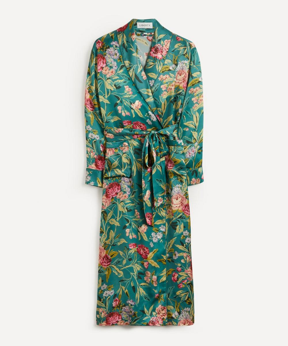 Liberty - Desert Rose Silk Satin Long Robe
