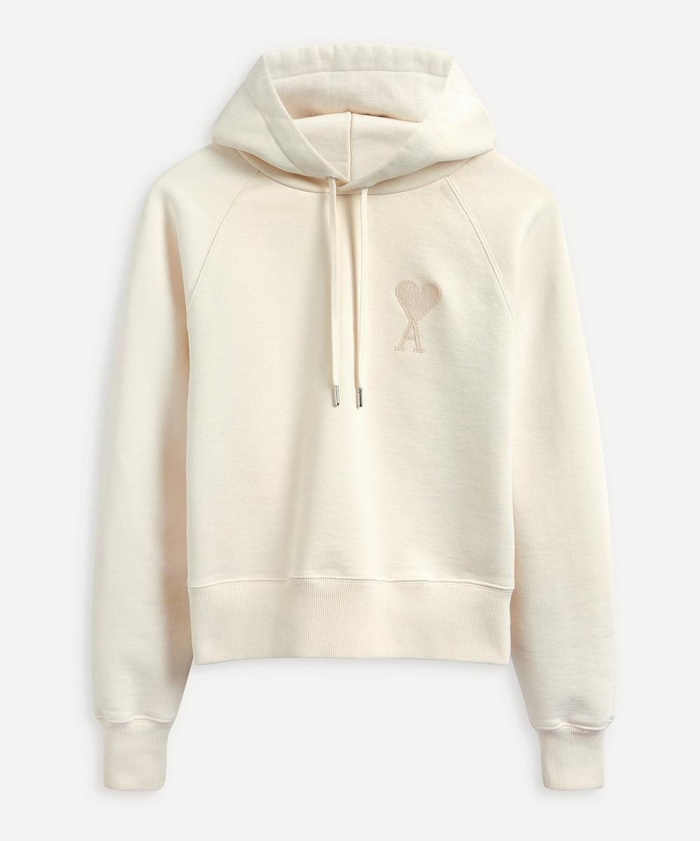 Ami - Embroidered Logo Organic Cotton Hoodie