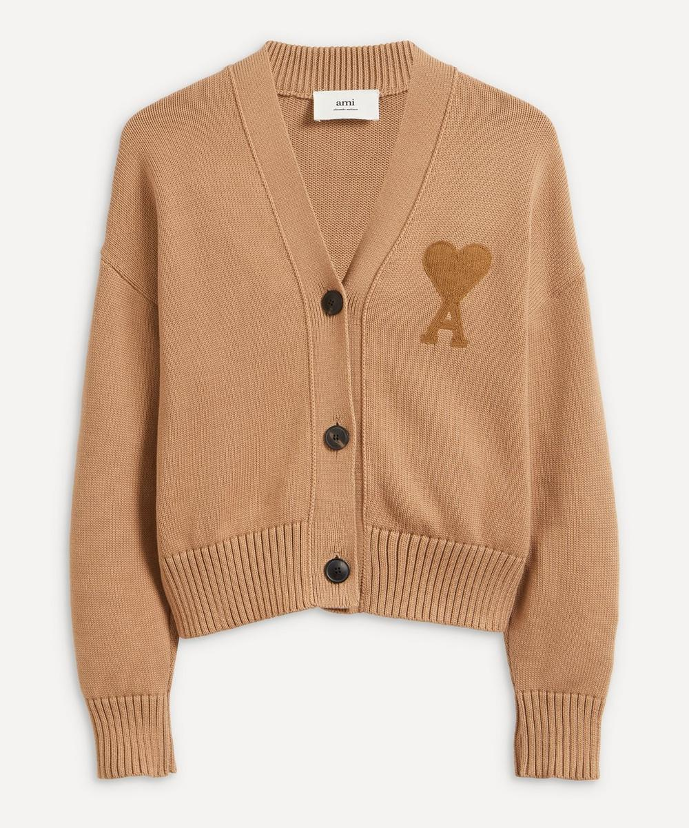 Ami - Logo Cotton-Wool Cardigan